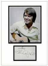 Glen Campbell Autograph Signed Display